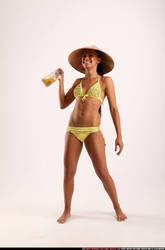 Celebrating in bikini by comicReference