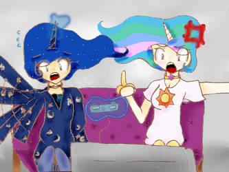 Two Best Sisters Play Portal 2 by Mizuki-Yorudan