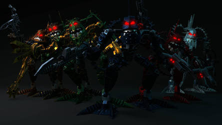 [Bionicle Heroes] Piraka team by MrLarions