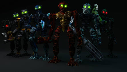 [Bionicle Heroes] Toa Inika team by MrLarions