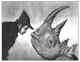 Dali vs. rhinoceros by TylerChampion
