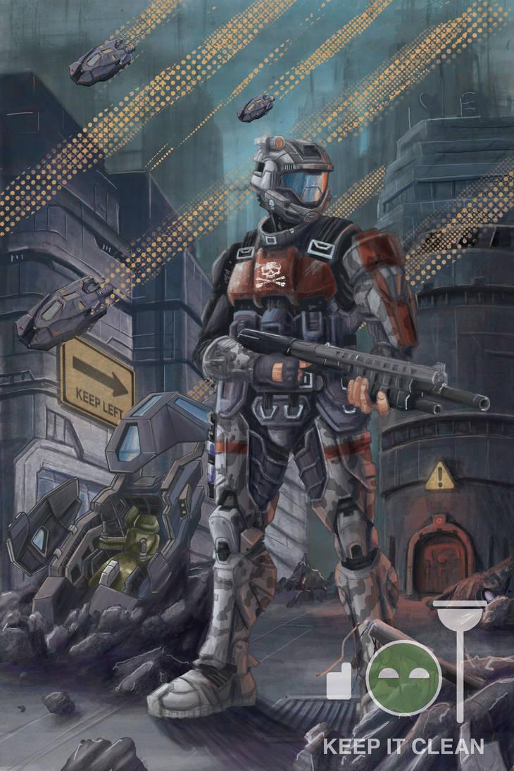 Halo odst poster by tylerchampion on deviantart - Halo odst images ...