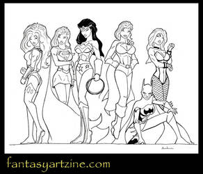 Wonder-Woman, Supergirl and other DC superheroines by sebastiendardenne