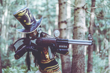 Sheriff Caitlyn Cosplay | Sniper in the woods by MomoeHamaguchi