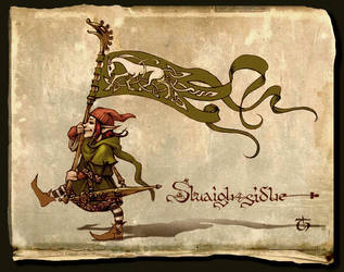 Sluaigh sidhe-bannerbearier by LeValeur