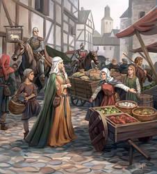 Medieval Market by Minnhagen