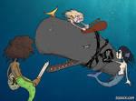 Inktober 2018-10-12 Whale by Zombie-Kawakami