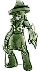 cactus girl by disgustiphage