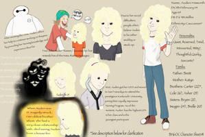 Big Hero 6 OC Character Sheet: Auden Haworth by Smokelesseyes