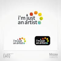 i'm just an artist logo by mircha69