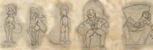 Character page-AB fan novel by NeekoNoir