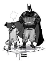 Batman with cat something.. by JUNGAHLEE