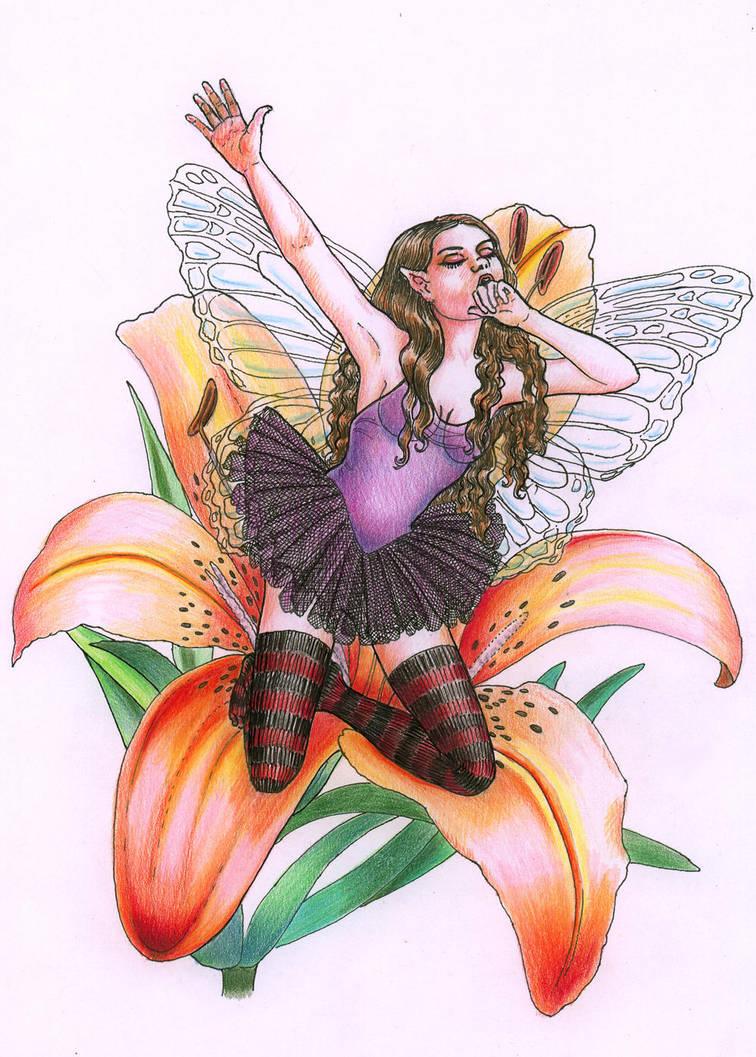 Tigerlily Fairy Tattoo Design By Carolehumphreys On Deviantart