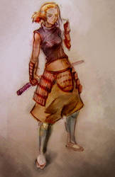 samurai_girl_color by chavdar-tn