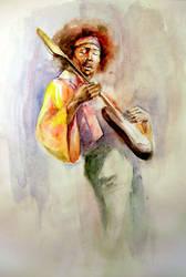 Jimi Hendrix by chavdar-tn