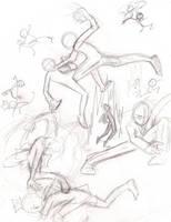Fight Poses: Researching by xxKakyokuAmayaxxx