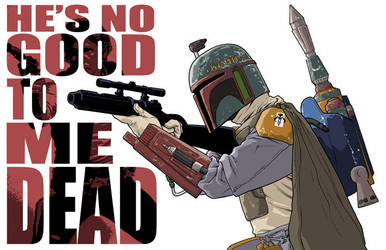 Boba Fett print by scottygod