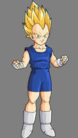 Vegeta Jr SSJ by SilverAngels07