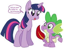 Twi and Spike by HeartinaRosebud