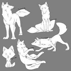 Canine Bases by figwine