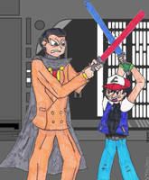 Lightsaber Duel by The-Evil-Mewthree