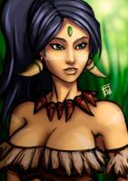 League of Legends: Nidalee, the Bestial Huntress by Bathiel
