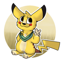 [PKMN-CC] Rumble evolved into Pikachu! by MinoesTheKitty