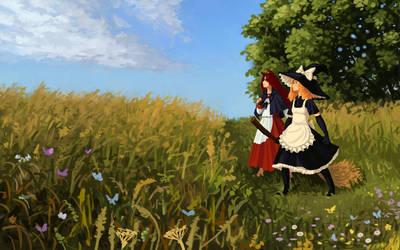 Marisa and Kagerou by U-Joe