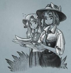 Renko and Maribel sketch by U-Joe