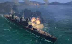 Soviet cruiser Molotov by U-Joe