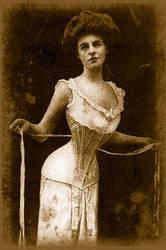 vintage corset by PixieTears