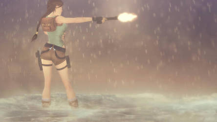 lara croft, explosion by cameron-18