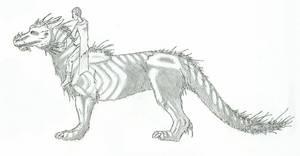 Skeletal Dragon by Drekena