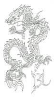 Eastern Dragon Inked by Drekena