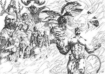 Hellboy-pencils by Titancross
