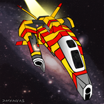 Triikor Heavy Interceptor (Homeworld) by Darkanvas