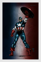 Captain America Colored by likwidlead