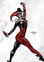 Harley Quinn Colored by likwidlead