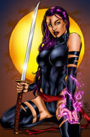Psylocke Colors by likwidlead