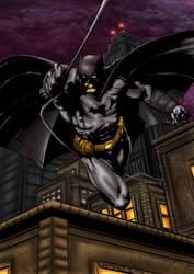 Batman splash pg2 Colored by likwidlead
