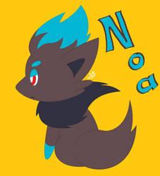 Noa the Zorua Shiny by SonicTHW93