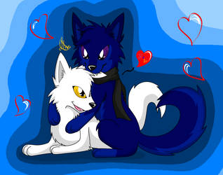 Gift/ Baky X Wolfy by SonicTHW93