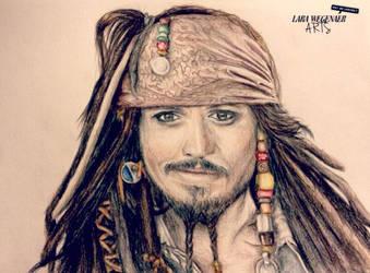Captain Jack Sparrow by LaraWegenaerArts