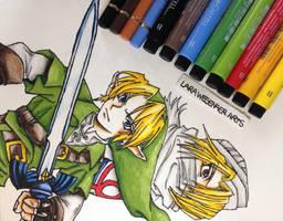 Link and Sheik by LaraWegenaerArts