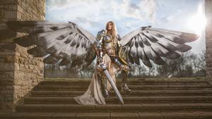 Magic: The Gathering Serra Angel Cosplay by LaraWegenaerArts