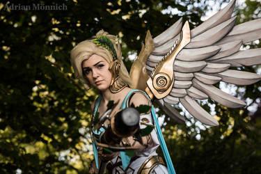 Winged Victory Mercy Cosplay - Overwatch Summer by LaraWegenaerArts