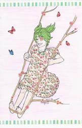 Spring Swing [Washi tape art] by Dango02