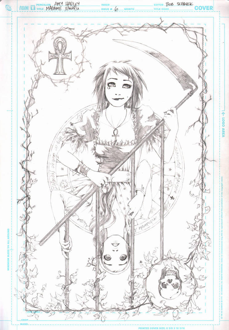 Madame Xanadu Cover 6 Pencils by Tentopet