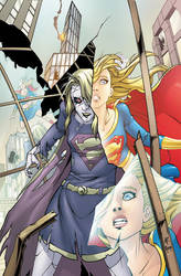Supergirl Issue 55 Cover by Tentopet