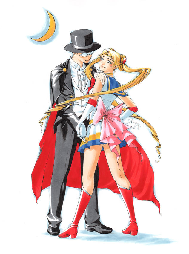 Sailor Moon and Tuxedo Mask by Tentopet